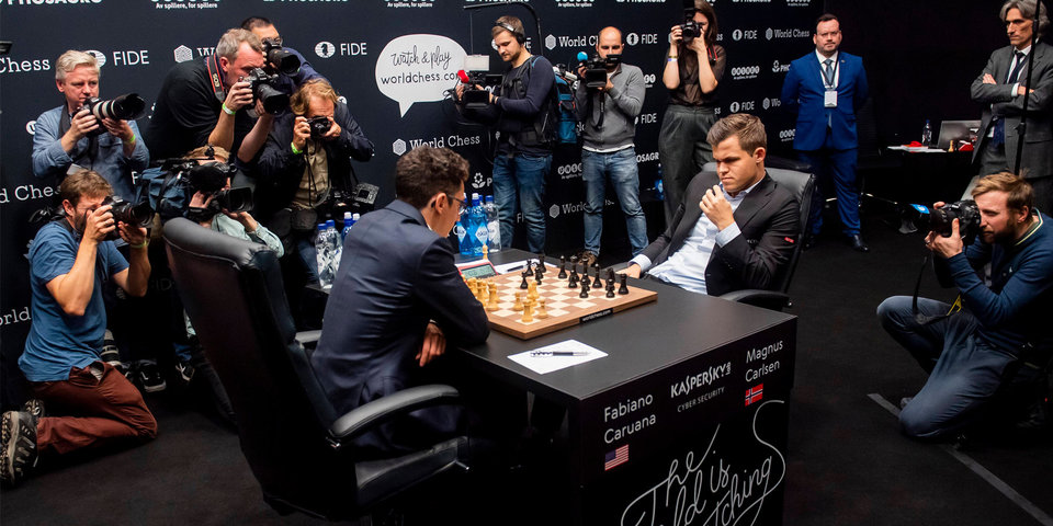 В 2018-м это случилось впервые. Все матчи в классические шахматы на ЧМ закончились вничью