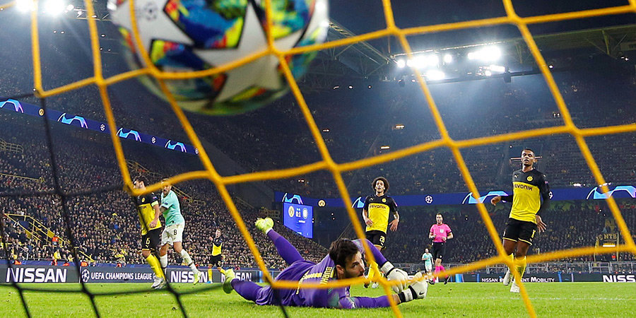 «Интер» вел 2:0 в Дортмунде, но «Боруссия» забила три во втором тайме и выиграла. Голы и лучшие моменты