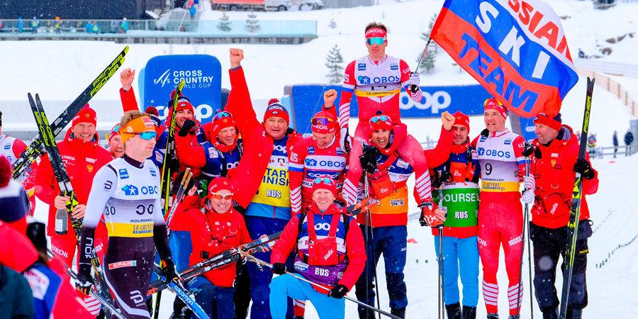 Большунов выиграл марафон на этапе Кубка мира в Осло, россияне заняли весь пьедестал