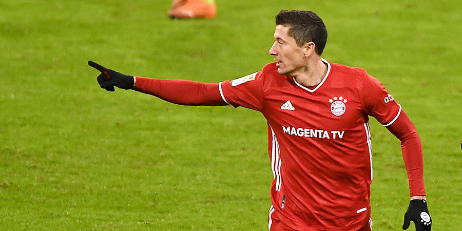 32-летний Левандовский стал самым быстрым игроком в матче с «Байером», развив скорость 34,2 км/ч