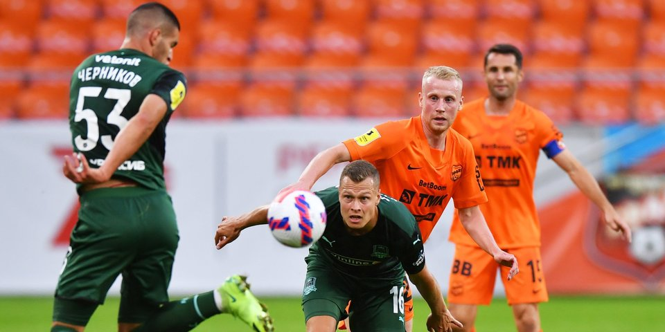 Дубль Вильены и дебютный гол Кордобы принесли «Краснодару» победу над «Уралом»