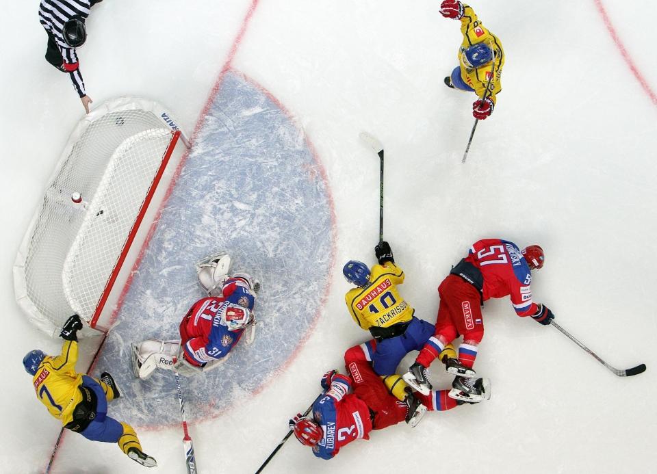 Шведы не могут выиграть у России 11 матчей подряд на чемпионатах мира