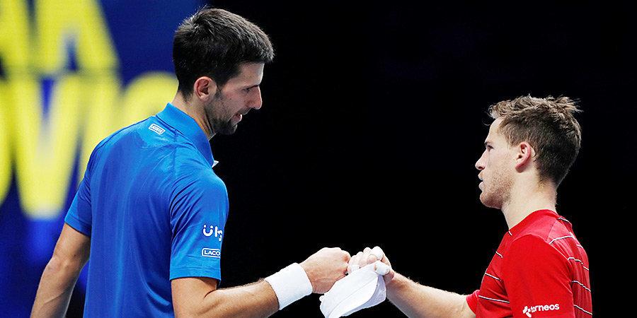 Джокович стартовал на Итоговом турнире ATP с победы над Шварцманом