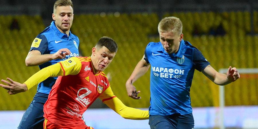 Защитник «Ротора» Степанов стал лучшим игроком матча с «Арсеналом»