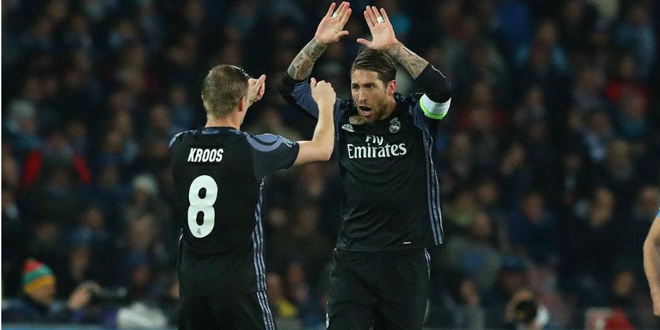 «Реал» опять побеждает «Наполи» 3:1. Голы илучшие моменты
