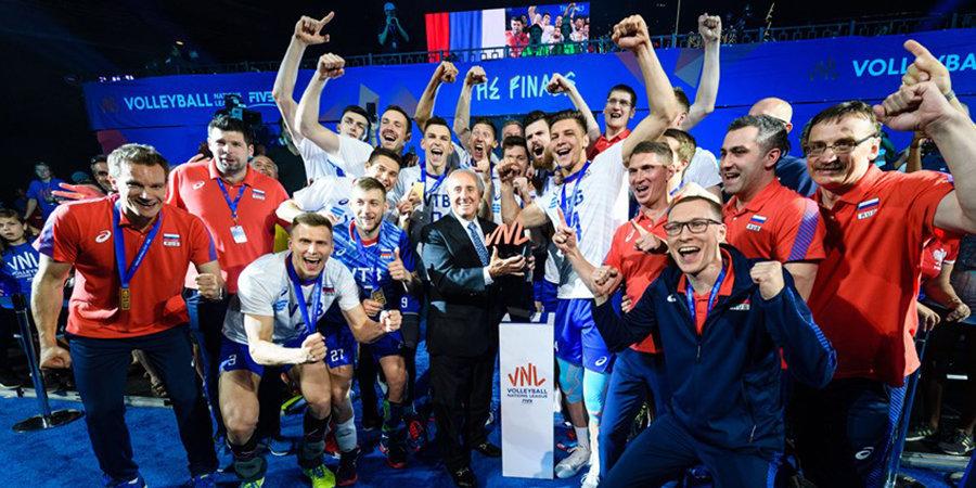 Российские волейболисты второй раз подряд выиграли Лигу наций, не оставив шансов США