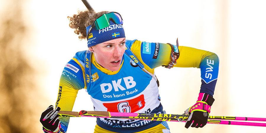 Анна Эберг выиграла спринт на этапе Кубка мира в Контиолахти, Миронова — 18-я