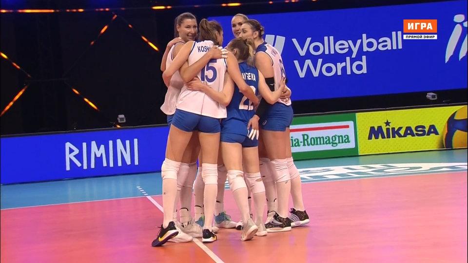Российские волейболистки стартовали в Лиге наций с победы над Германией. Как это было (видео)