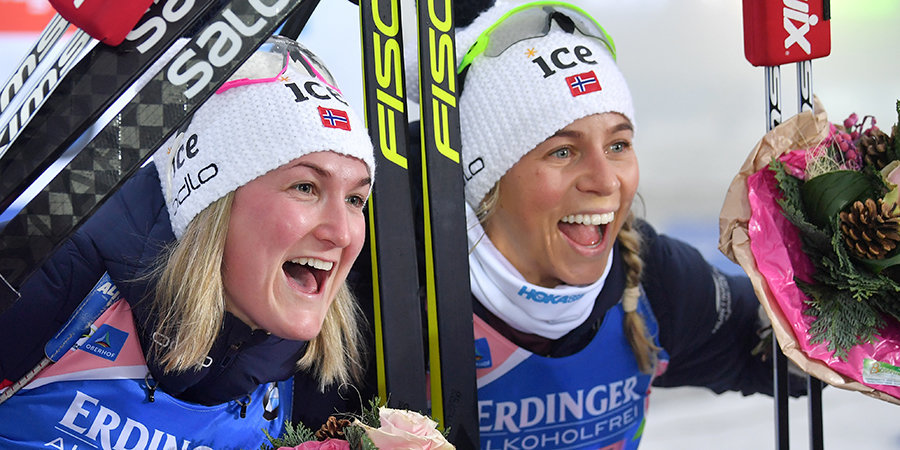 Норвежки сделали золотой хет-трик, у нас - худший результат в сезоне. Главное о женской эстафете в Оберхофе