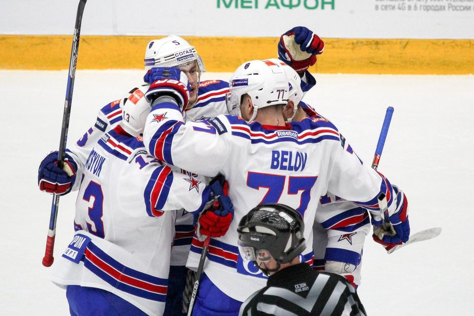 СКА одержал вторую победу над «Локомотивом», Плотников набрал 3 очка