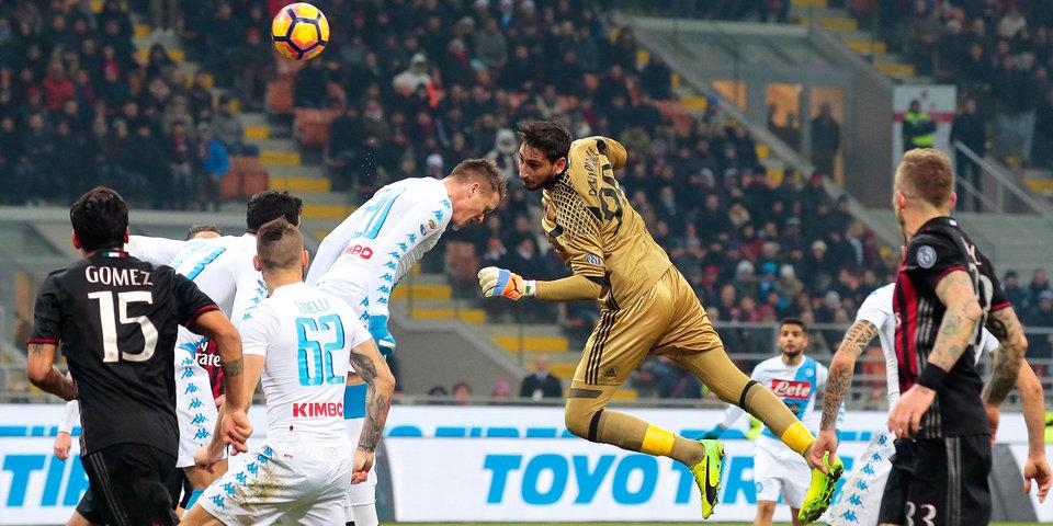 «Наполи» обыгрывает «Милан»: голы и лучшие моменты