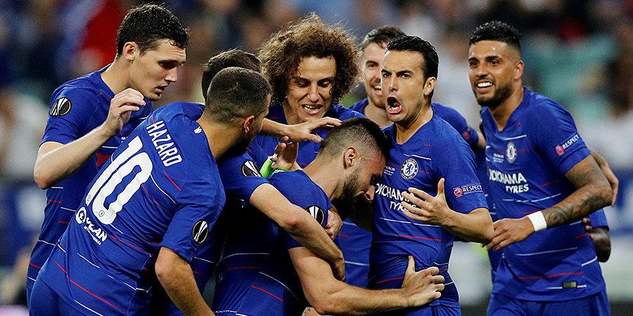 «Челси» забил 4 за 22 минуты и уничтожил «Арсенал» в финале Лиги Европы. Голы и лучшие моменты