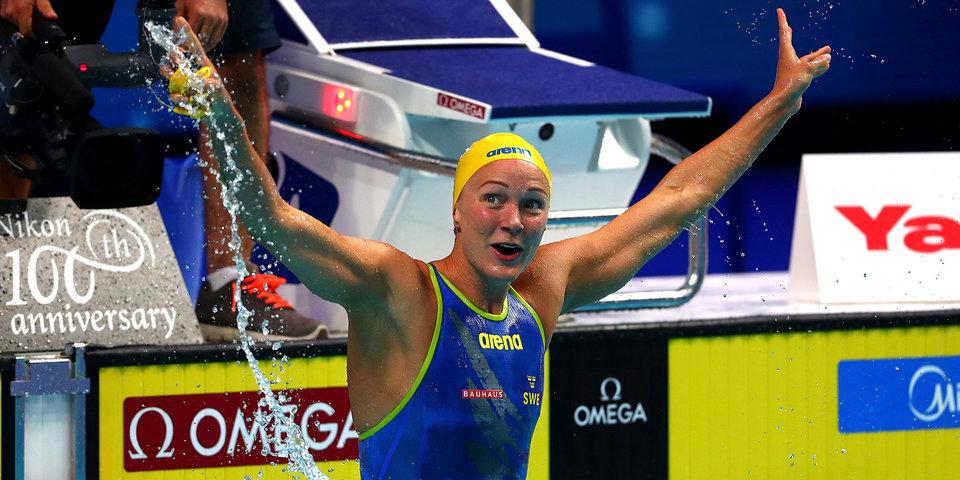 Шведская пловчиха Сьестрем выиграла третье золото ЧМ в Будапеште