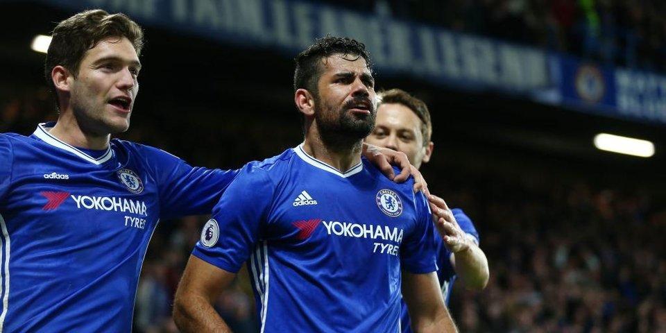Диего Коста возвращается в состав и забивает в 100-й игре за «Челси»