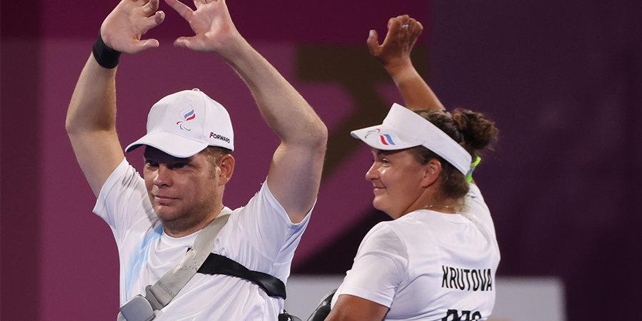 Крутова и Леонов завоевали бронзу Паралимпиады в стрельбе из лука в миксте