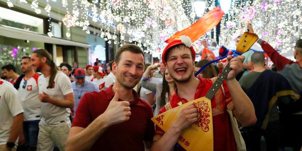 Фестиваль болельщиков в Москве собрал больше 80 тысяч человек в день матча Россия — Египет