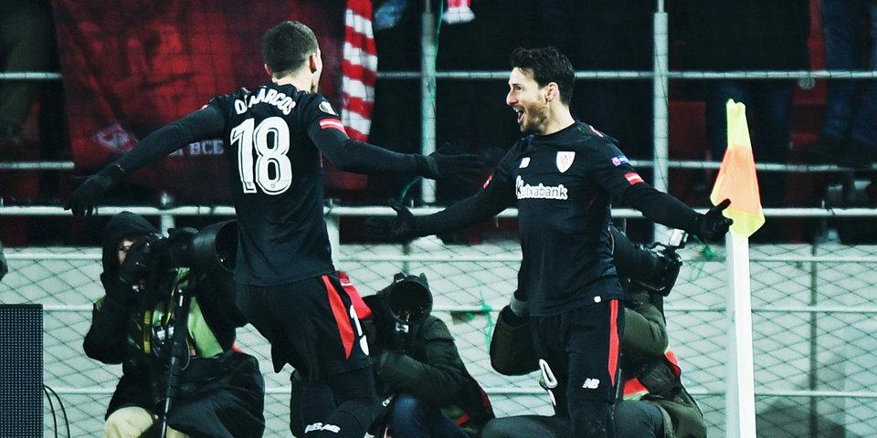 «Спартак» пропускает трижды еще в первом тайме и сильно рискует вылететь из Лиги Европы: голы и лучшие моменты