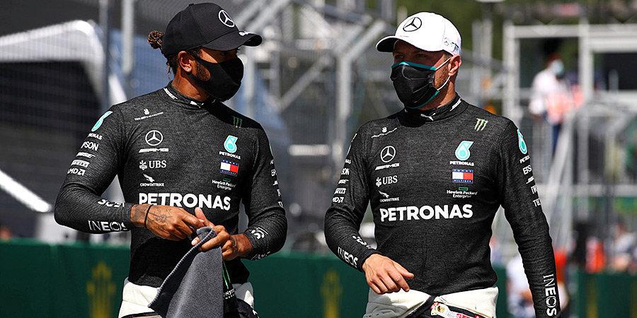 Боттас лишил Хэмилтона сотого поула в карьере, Мазепин стартует на Гран-при Португалии с 20-й позиции