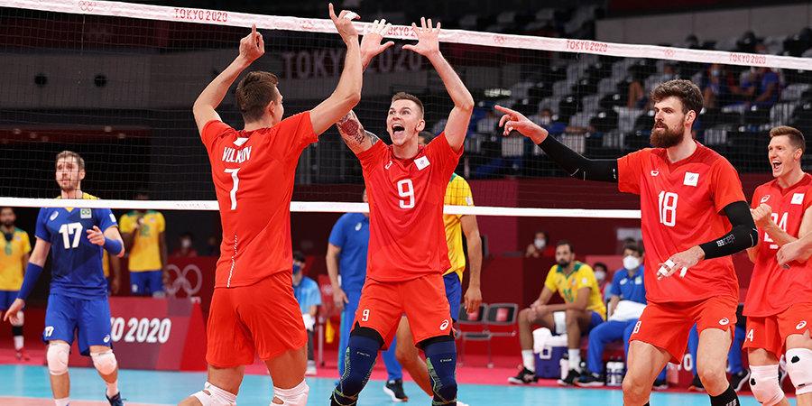 Российские волейболисты одержали третью победу на Играх в Токио