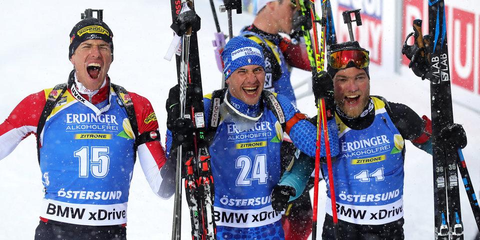 Виндиш выиграл масс-старт в Эстерсунде, Логинов остановился в шаге от медали