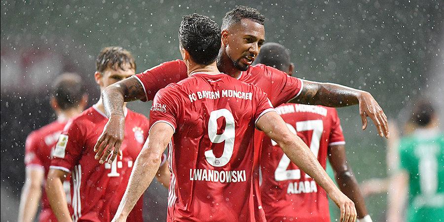 «Бавария» досрочно стала чемпионом Германии. Это восьмой титул мюнхенцев подряд и 30-й в истории клуба