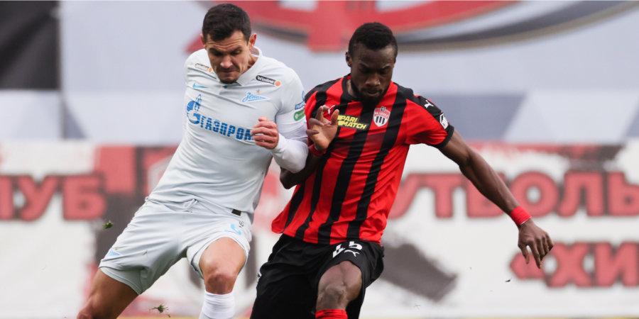 «Зенит» обыграл «Химки» и вернулся на 1-е место в Тинькофф РПЛ