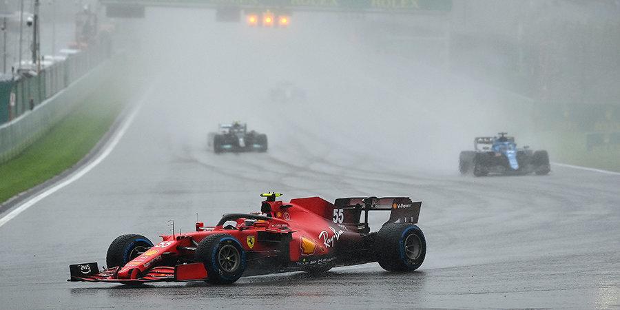 Ливень задержал старт Гран-при Бельгии на 3,5 часа, гонки фактически не было, а у Мазепина — лучший круг. Что это было?