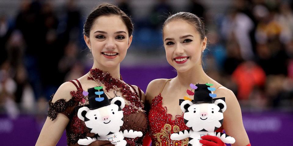 Загитову и Медведеву наградили медалями в Пхенчхане