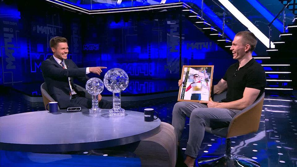 «Матч ТВ» подарил Большунову портрет Клебо