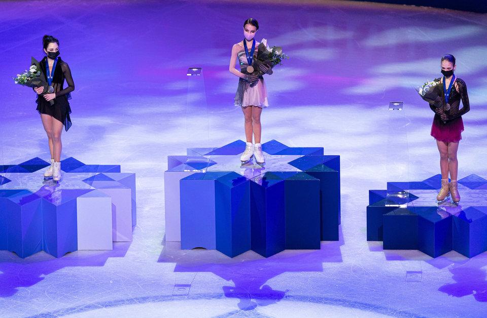 Российские фигуристы выиграли медальный зачет чемпионата мира в Стокгольме