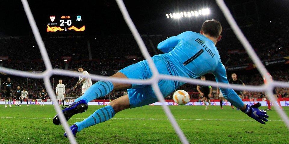 «Краснодар» был разгромлен, но прошел в плей-офф. Все голы в матче с «Севильей»