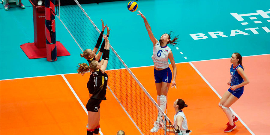 Российские волейболистки уступили немкам на чемпионате Европы