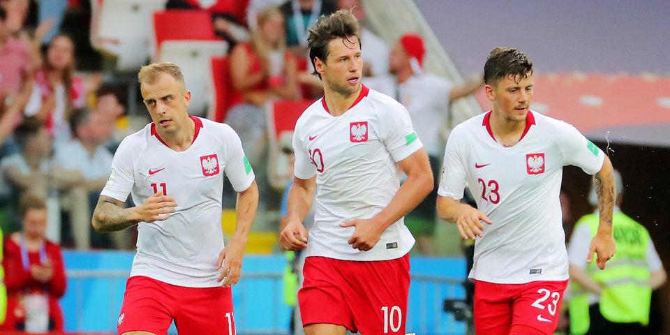 Сборная Польши тренируется в полном составе перед матчем с колумбийцами