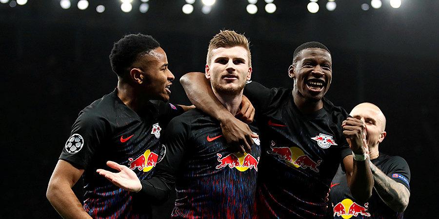 «Лейпциг» разгромил «Тоттенхэм» и пробился в четвертьфинал Лиги чемпионов