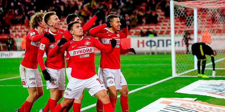 Ларссон вывел «Спартак» в 1/4 Кубка России. В трех матчах при Тедеско он забил в 4 раза больше, чем за все время при Кононове. Видео