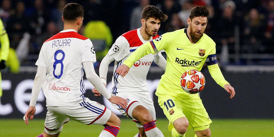 «Барселона» и «Лион» сыграли вничью, Месси вышел на второе место по количеству матчей за каталонцев в ЛЧ