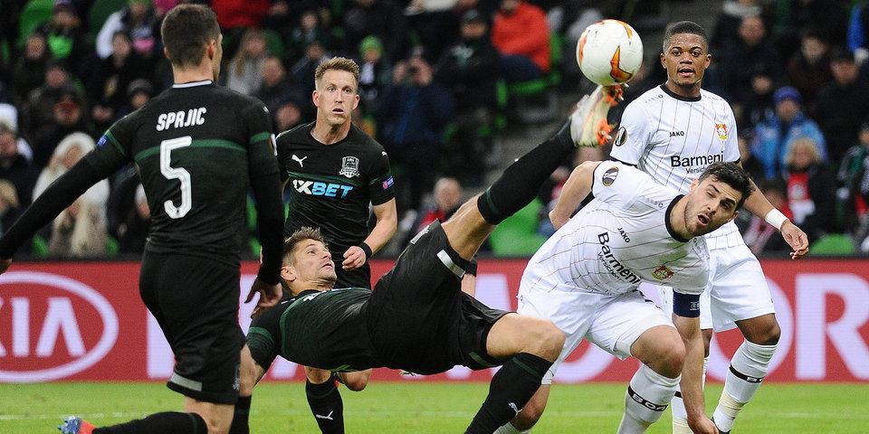 «Краснодар» дал бой «Байеру», который совсем недавно хлопнул «Баварию». Лучшие моменты