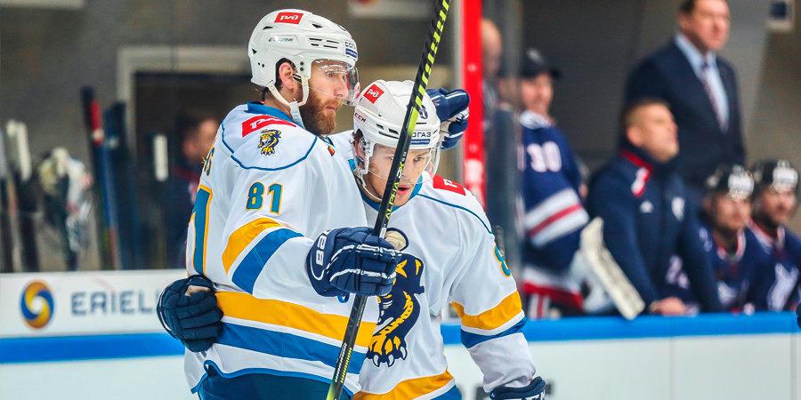 Дубль Стремвалла помог «Сочи» обыграть «Северсталь» в матче КХЛ
