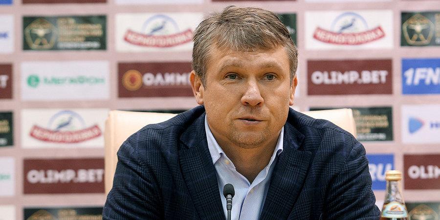 Талалаев поздравляет «Ротор» с выходом в премьер-лигу. Не рано? В ФНЛ играть еще 14 туров