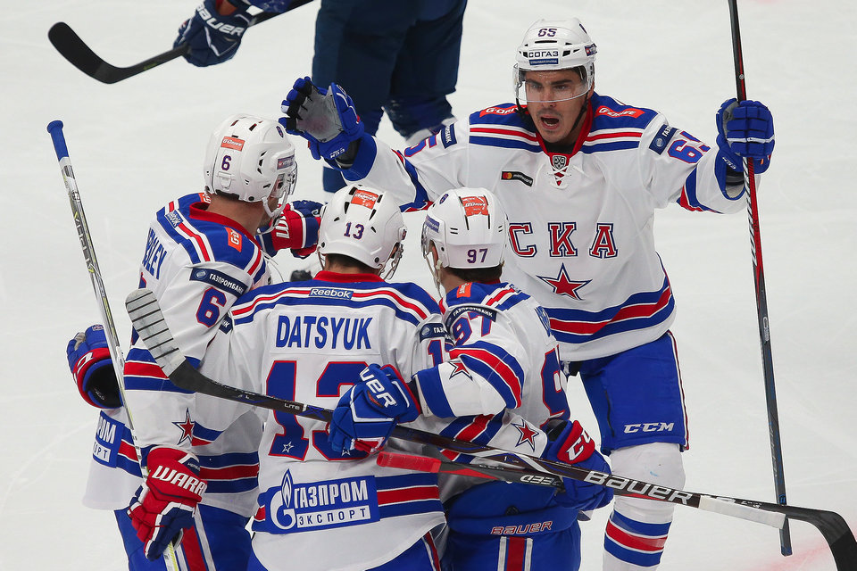 Дубль Дацюка принес СКА победу над «Северсталью»