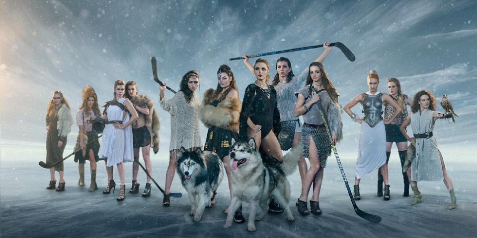«Зима близко». Хоккеистки снялись для новогоднего календаря в образе фэнтези-воительниц