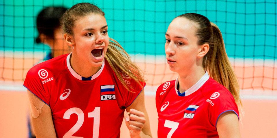 Российские волейболистки вышли в полуфинал молодежного ЧМ