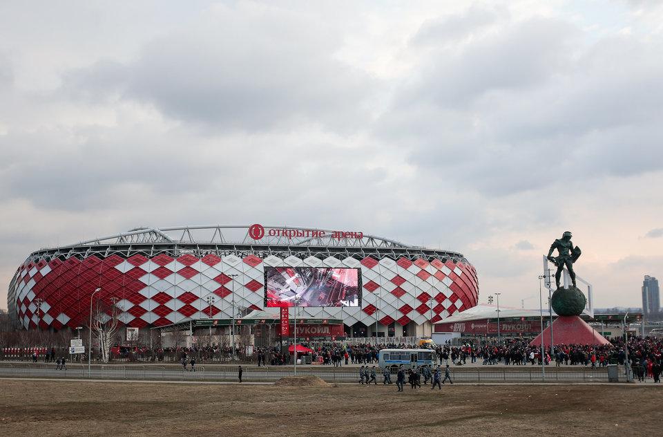 Поле стадиона «Спартака» пострадало во время концерта «Ленинграда»