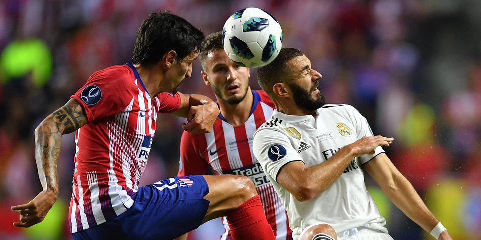 «Атлетико» обыграл «Реал» и в третий раз в истории завоевал Суперкубок Европы