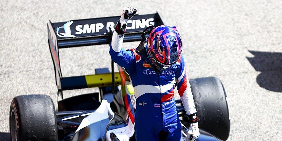 Смоляр финишировал третьим в гонке «Формулы-3»