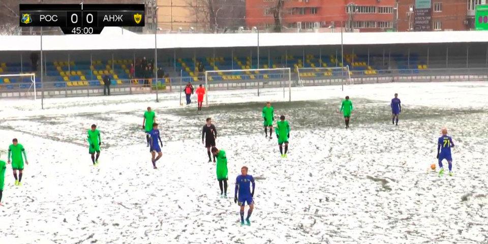 «Ростов» обыграл «Анжи» на заснеженном поле в Батайске