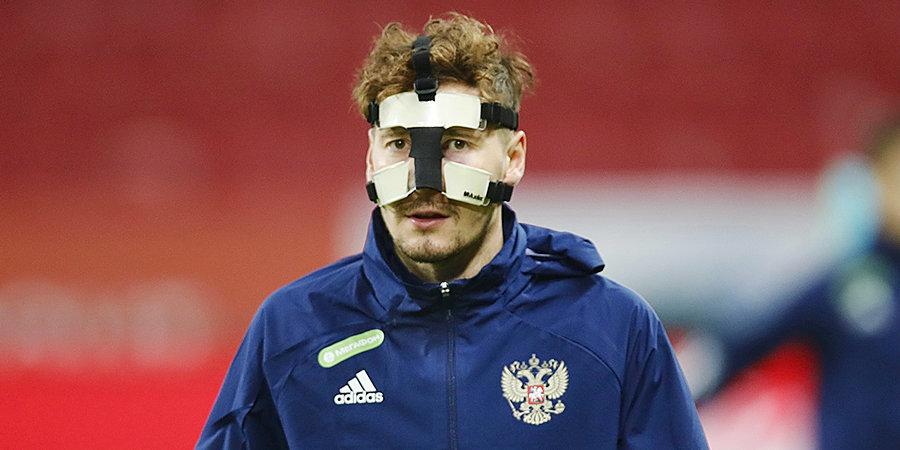 Далер Кузяев: «На тренировке случайно столкнулись со Смоловым, получил ушиб носа и лица»