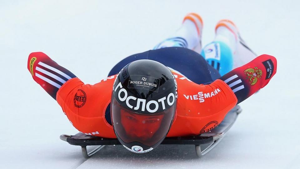 Третьяков — бронзовый призер чемпионата Европы по скелетону