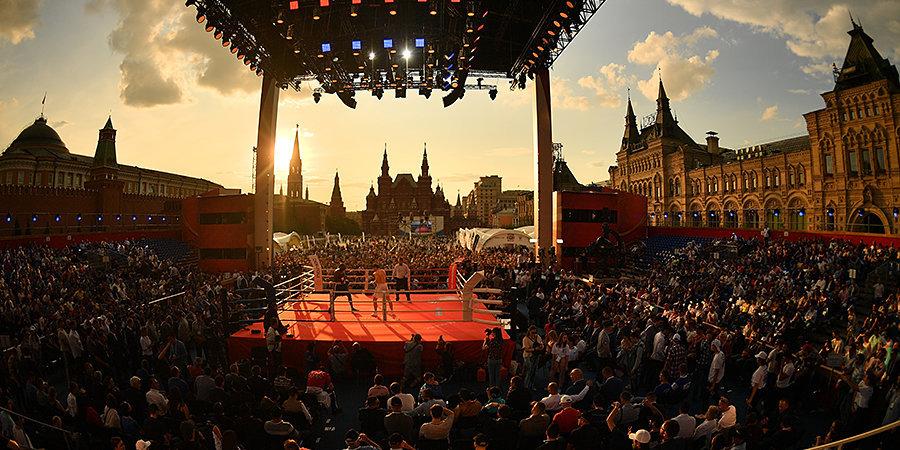 Чудинов победил под комментарий Валуева. Красная площадь отметила Международный день бокса и обновила рекорд