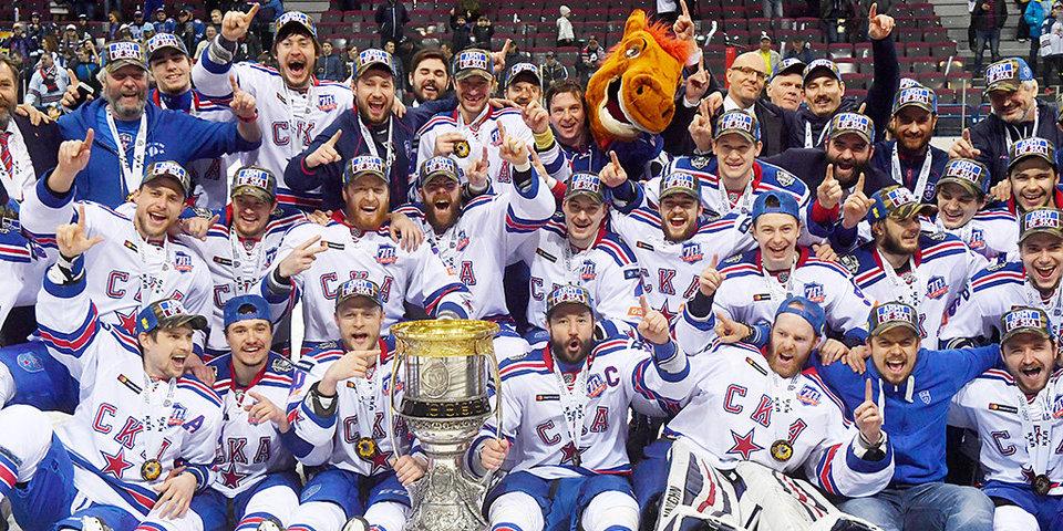 Как СКА празднует победу в Кубке Гагарина
